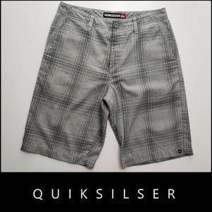 Quiksilver Men Flat Front Plaid & Check Short 32